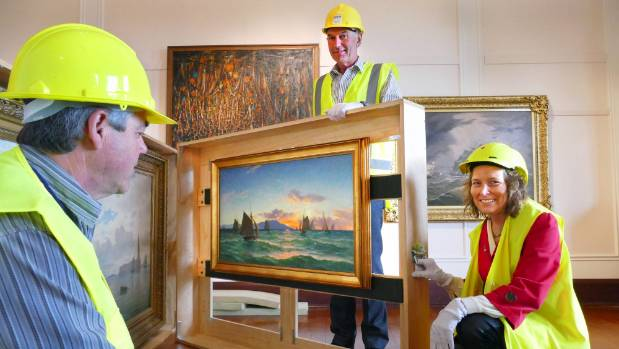 Invercargill Public Art Gallery president Dave Kennedy, Southland Museum and Art Gallery manager Paul Horner and council ...