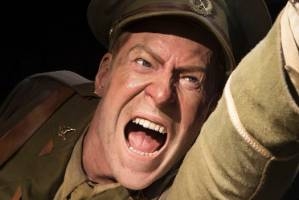 The Lieutenant Spencer Wesmacott display at Weta's Gallipoli, The Scale of Our War exhibition at Te Papa. He's angry. ...