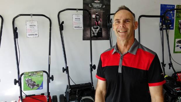 Anthony Duncraft of Cyclone Cycles and Mowers in Sydenham.