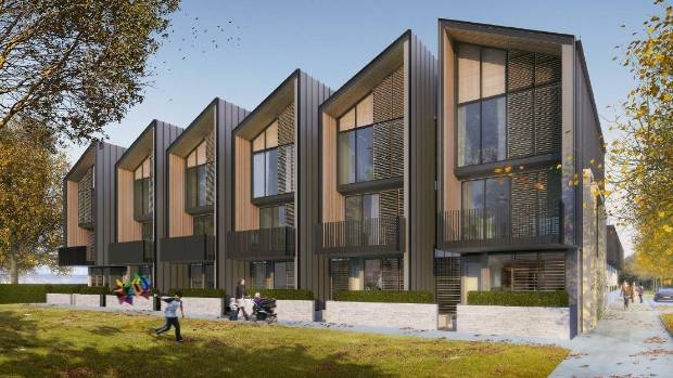 The first tranche of the east frame will comprise 20 terraced homes, each up to three storeys high.