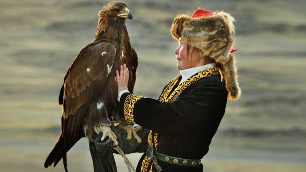 Thirteen-year-old Mongolian Aisholpan is the star of The Eagle Huntress.