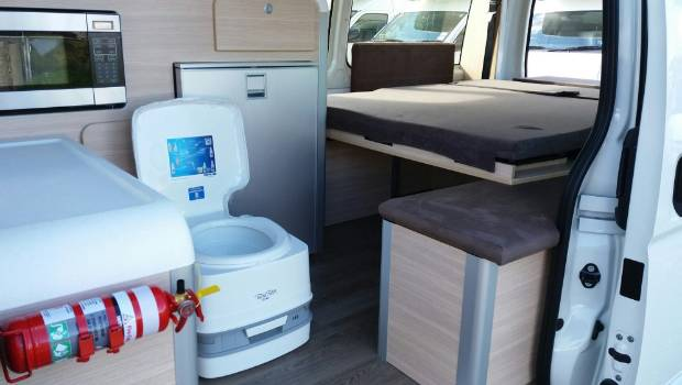 Inside loo rule for self contained camper vans and