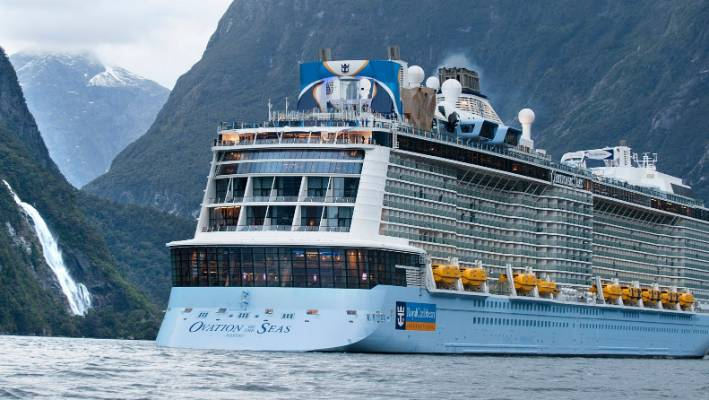 Milford Sound welcomes fourth-largest cruise ship in the world