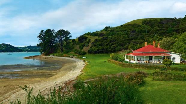 "Barbara and Dan Breen's Waiheke home stands in ""Honeymoon Bay""."