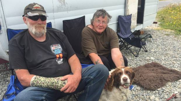 Dave and Marilyn Corson have been camping out at the Pike River memorial.