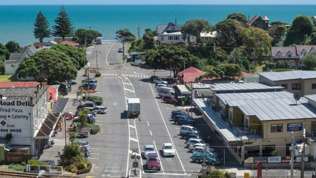 The main drag of Paekākāriki is set for a rainbow invasion on Labour weekend. The pedestrian crossing at the far end of ...