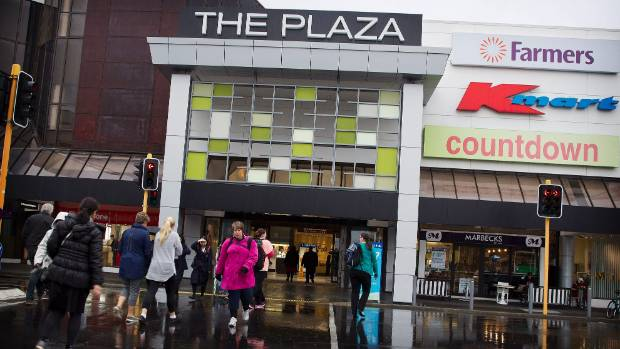 The Plaza is the centre of shopping in Palmerston North.