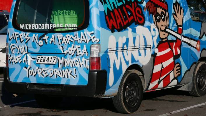 8f0236c48a Some Wicked Campers vans sport drug messages but others are said to be  indecent