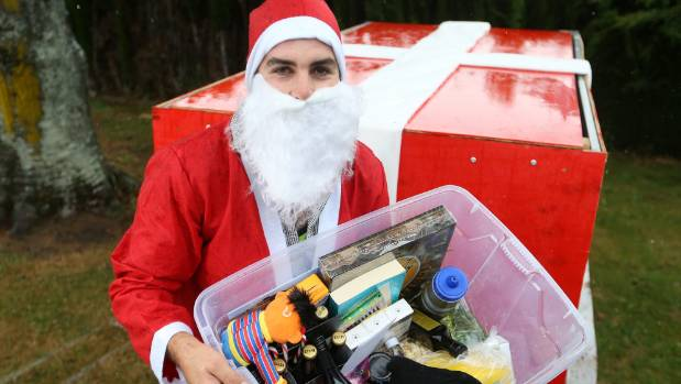Blenheim builder Tyler Fifield is delivering Christmas goodies to earthquake-affected residents this weekend.