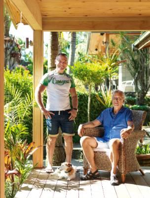Monto Garden is the Kerikeri property of David Monks, left, and Jürgen Tofahrn.