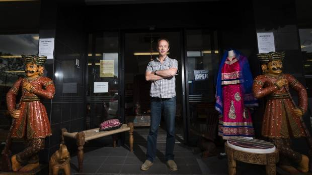 David Forrest sells Indian antiques from the old ASB branch building in the posh suburb of Mount Eden. The bank had a ...