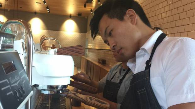 Chinese baristas are queuing to work at Mojo in Xian, China.