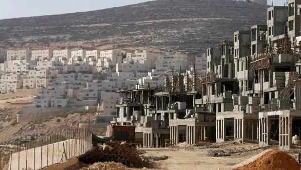 A construction site is seen in the West Bank Jewish settlement of Givat Zeev, near Jerusalem, in 2013.