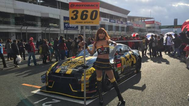 A feature of the Nismo Festival is the public can get up and personal with the GT-R racers - and the pit girls.