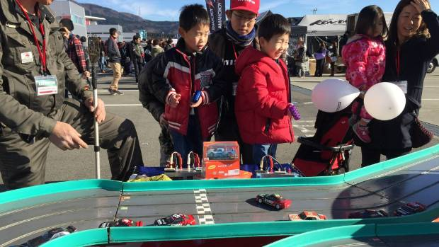 Nismo racing for the children included these slot cars.