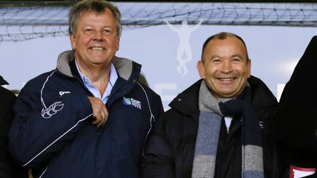 RFU chief executive officer Ian Ritchie, left, pictured with Eddie Jones, has been accused of being 'deceitful and ...
