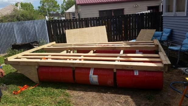 Trios floating picnic on waikato river stuff it took a solid four afternoons to construct the vessel watchthetrailerfo