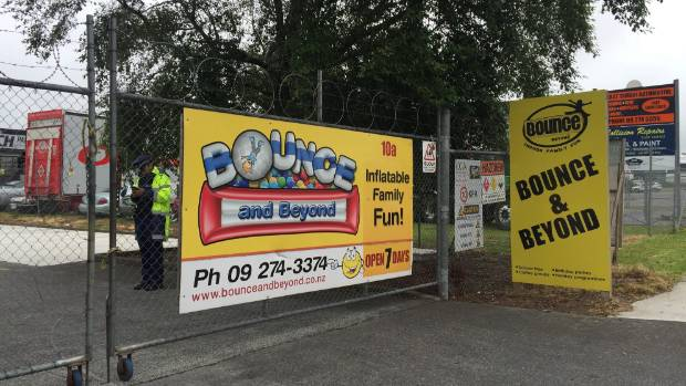 Police cordoned the Bounce and Beyond playground facility where a child was seriously injured on Wednesday afternoon.