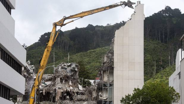 An office block on Wellington's Molesworth St had to be demolished after the November 14 earthquake. In 2017, Wellington ...