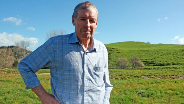 John Luxton on his farm in the Waikato.