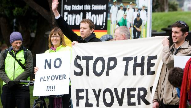 Protesters, including former Green Party co-leader Dr Russel Norman and Wellington Mayor Celia Wade-Brown, oppose the ...