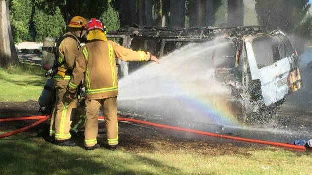 Wanaka firefighters quickly extinguished the blaze.