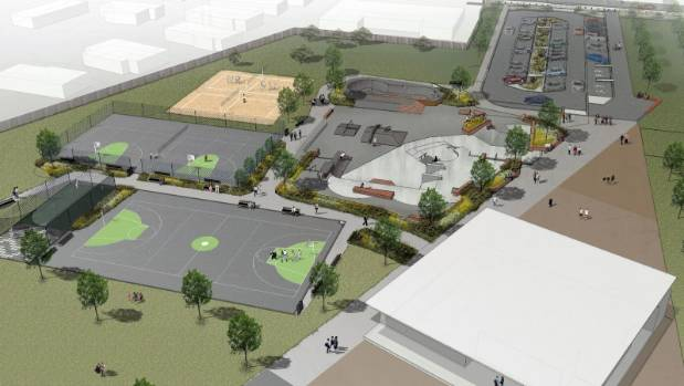 An artist's impression of what Riverton Reserve will look like once work on the  redevelopment is finished.