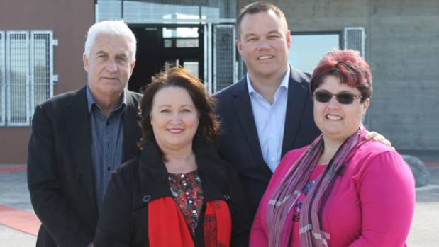 From left, Alan Johnson, Angela Dalton, Daniel Newman and Maree Beaven at the opening of the new Randwick Park Community ...