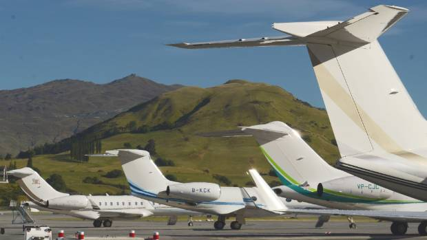 The 2014 record of eight private jets at once at Queenstown airport is unlikely to be repeated this year.