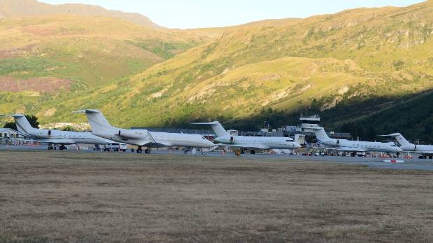 Queenstown airport has room for up to six private jets, depending on their size.