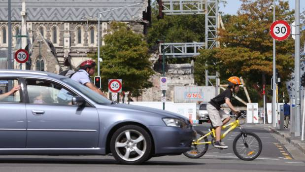 A new 30km/h speed limit is enforced within the Christchurch city.