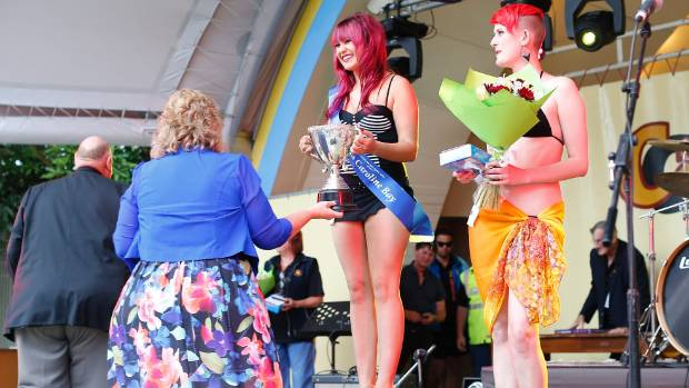 Miss Caroline Bay contestants, from left, winner Tayla Porter of Herbert, and Stacey Jackson of Dunedin.