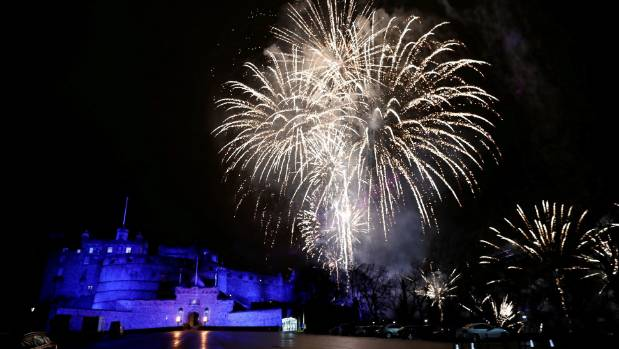 Second place-getter Edinburgh, during Hogmanay celebrations.