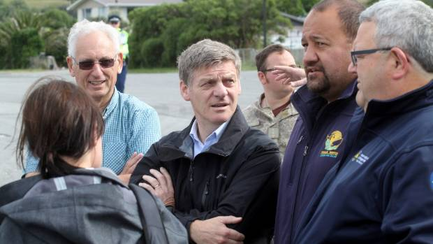 Dennis Buurman of Encounter Kaikoura, left, and Whale Watch chief executive Kauahi Ngapora, second from right, with ...