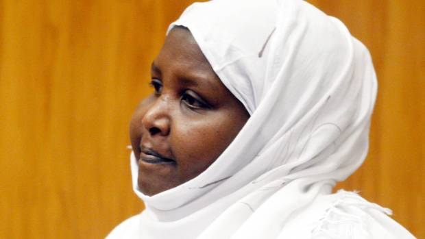 Asha Abdille at her sentencing in 2010.