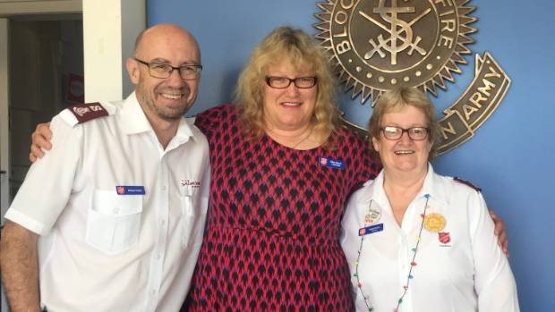 Major Alister Irwin, Ellen-Marie Carpenter and Major Anne Irwin from Napier's Salvation Army, which is now offering no ...