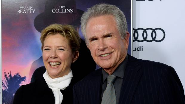Producer/director Warren Beatty and cast member Annette Bening at the Rules Don't Apply premiere in LA.