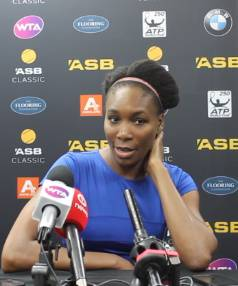 Venus Williams reflects on her win over Kiwi Jade Lewis.