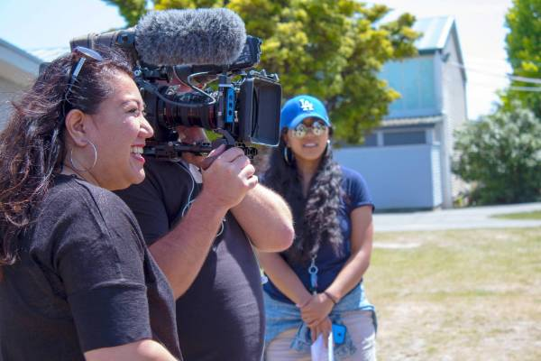 Director Ana Mulipola in action.