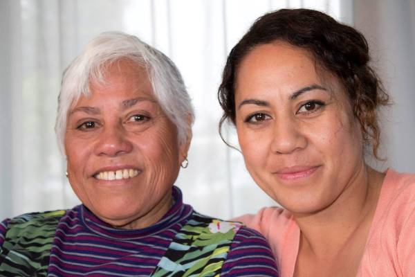 Laumua Telea and daughter Rose Telea. Both were staff at Aranui High School before its closure.