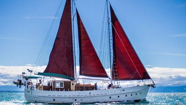 The 1944 Staysail Schooner boat has made several long-distance journeys including successfully making it across the ...
