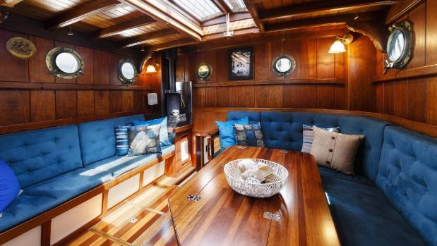 Cambell and her former husband spent many years renovating the 73-year old boat.