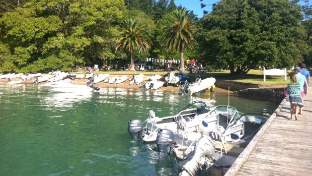 Mansion House Bay is a popular spot for boaties, especially at the annual Music in the Garden event