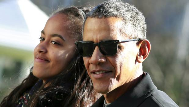 Malia Obama, left, worked in Weinstein's offices months before the allegations came out. Former US President Barack ...