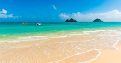 Lanikai Beach in Kailua - the holiday destination of choice for the Obamas.