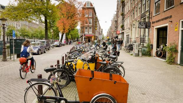 Amsterdam is world's most bicycle friendly cities about a million bikes in the city.