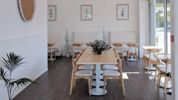 The Origin cafe has a Scandinavian style interior.