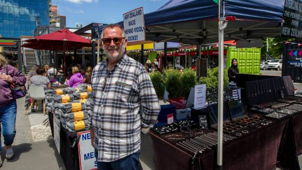 Stuart Atkinson says the future of his and other market stalls in central Christchurch is uncertain.