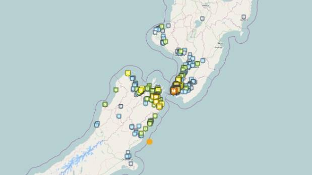 The quake quickly attracted thousands of felt reports on Geonet.