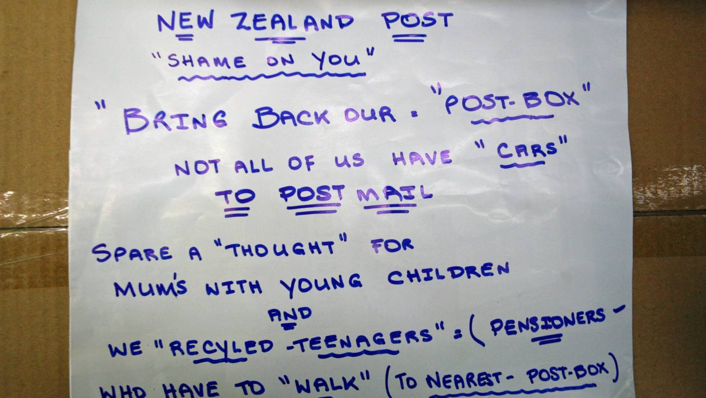 Removal of local NZ Post box frustrates Rotorua residents